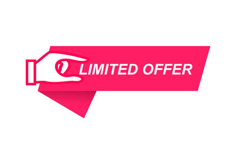 Modern vector banner ribbon limited offer with stop watch Stock fotó - 154628099