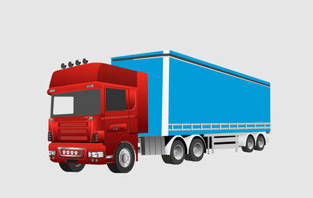 Big truck vector illustration, isolated in white, good for transport and logistics
