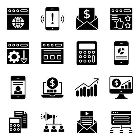 Seo and Web Solid Icons Pack