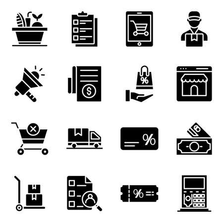 Pack of Commerce Solid Icons