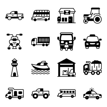 Pack of Transport Solid Icons