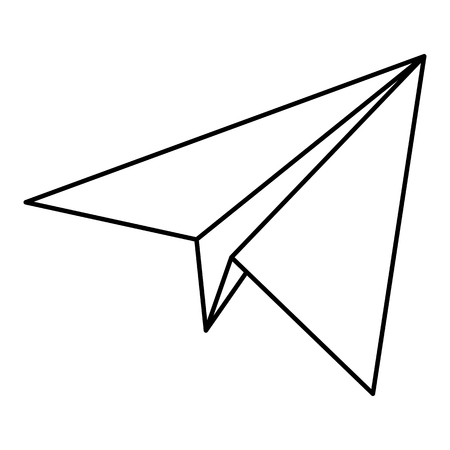 Vector image of a paper plane icon