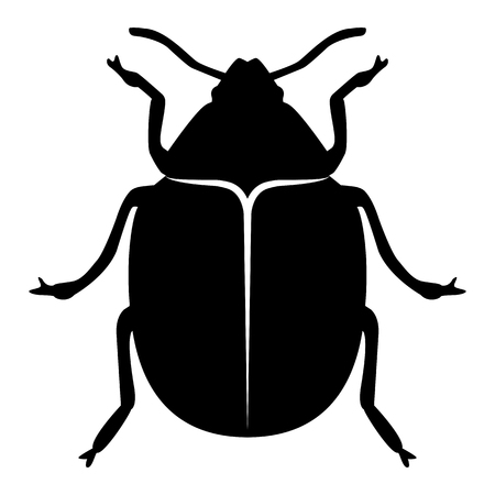 Vector image of the Colorado beetle silhouette on a white background Banque d'images - 122125686