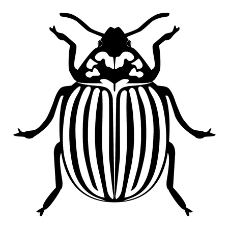 Vector image of the Colorado beetle silhouette on a white background Banque d'images - 122126109