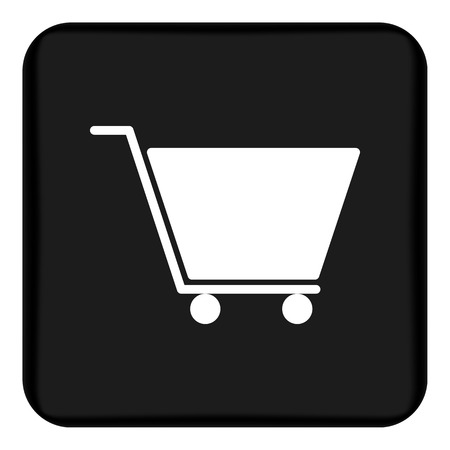 Vector image of a flat carriage icon for shopping for goods. Design a flat cart icon for shopping. Button with shopping carts
