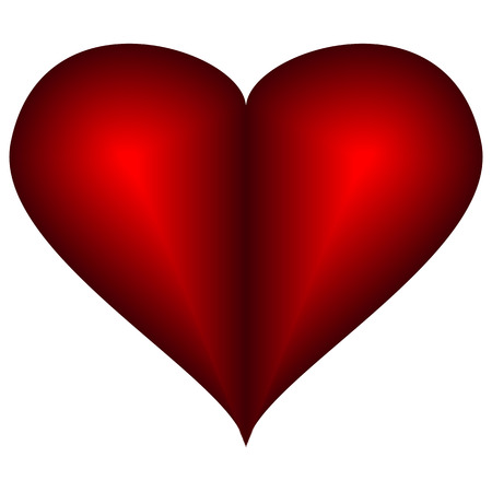 Vector image icons hearts. Red heart