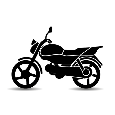 Vector, monochrome, isolated, flat icon of a sports motorcycle. Vector Illustratie