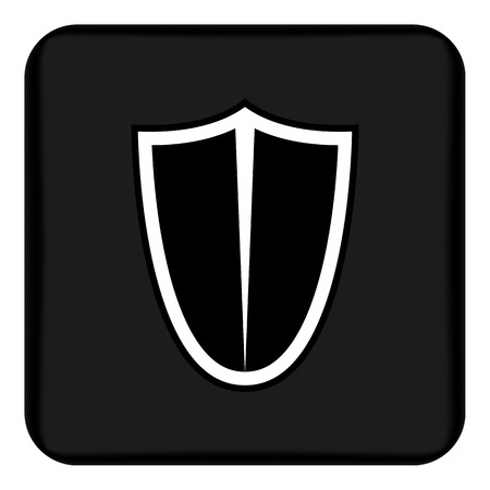 Vector image of a flat, isolated shield icon. Design a flat shield icon. Ilustrace