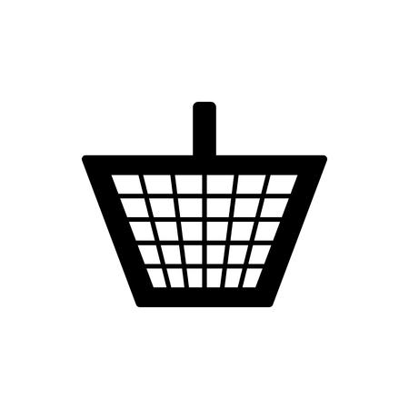 Vector image of a flat basket icon for shopping for goods. Design a flat shopping cart icon.  イラスト・ベクター素材