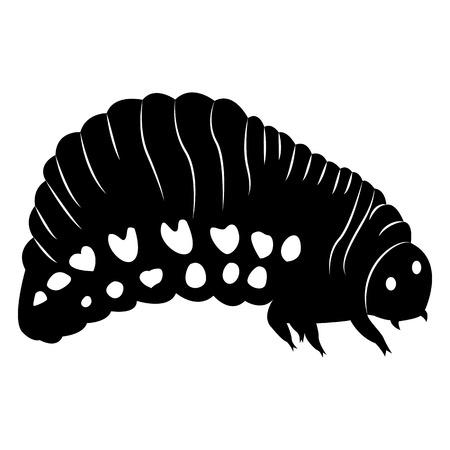 Vektorbild der Silhouette der Gabel des Colorado Red Beetle auf weißem Hintergrund Vektorgrafik