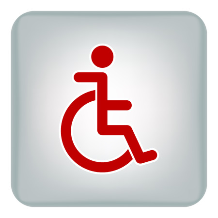 Vector image of the carriage icon for the disabled red