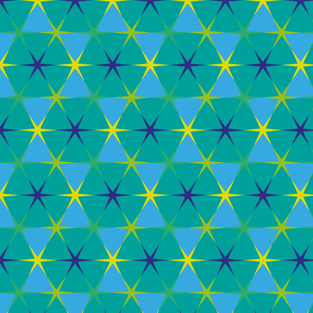 Vector image of a seamless Arabic pattern with stars of different colors