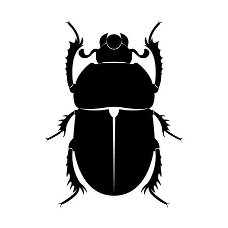 Vector de la imagen de una silueta de escarabajo escarabajo