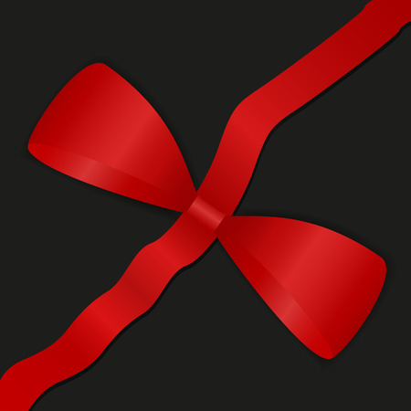 Picture of a red ribbon with a bow