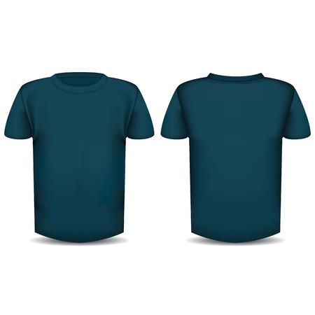 L'immagine della parte anteriore e posteriore della maglietta