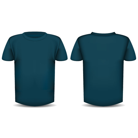 The image of the front and back of the T-shirt