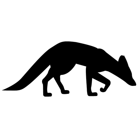 Vector image of a fox silhouette on a white background Banque d'images - 122178268