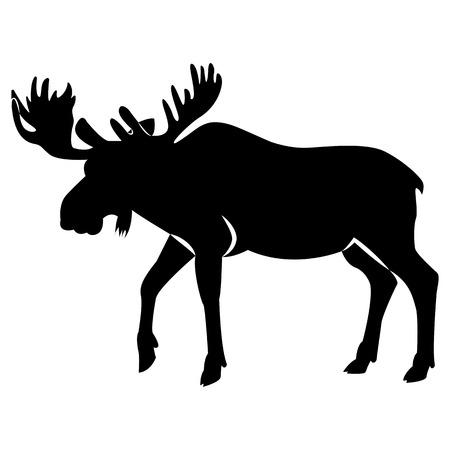 Image vectorielle de silhouette de wapiti
