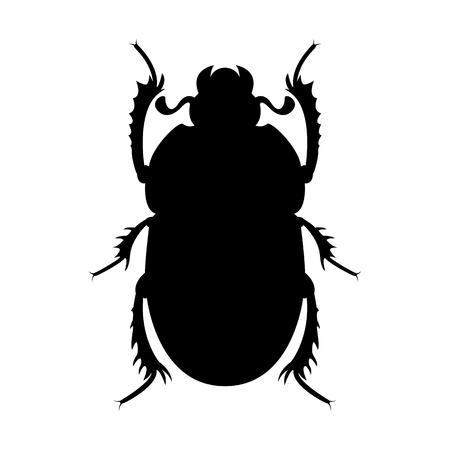 Vector de la imagen de una silueta de escarabajo escarabajo Ilustración de vector