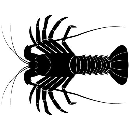 Image vectorielle de la silhouette du homard Vecteurs