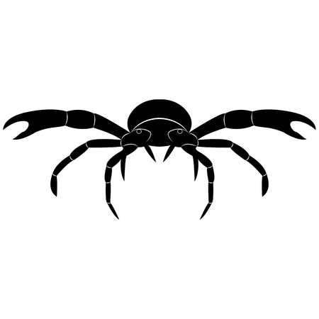 Vector image of crab silhouette
