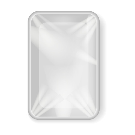 Vector image of realistic plastic packaging for products. 3d plastic packaging