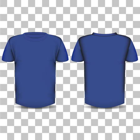 The image of the front and back of the T-shirt on a transparent background Illustration