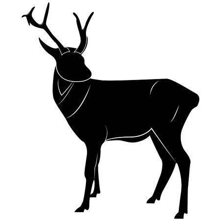 Picture of a deer silhouette for retro logos, emblems, badges, labels template vintage design
