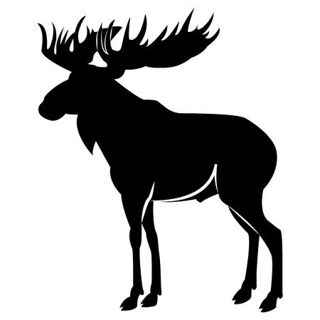 Vector image of elk silhouette