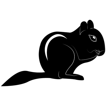Vector image of chipmunk silhouette