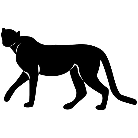 Vector image of leopard silhouette