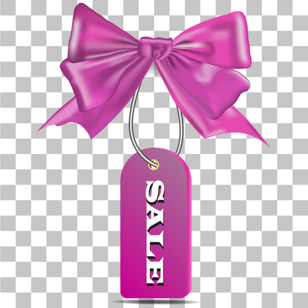 Picture of a pink bow with a beige for sale on a transparent background