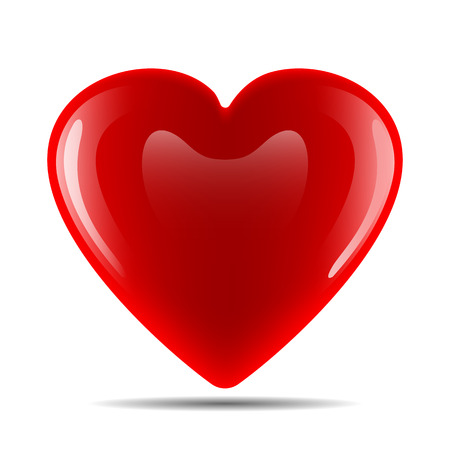 Immagine vettoriale di un cuore su sfondo bianco