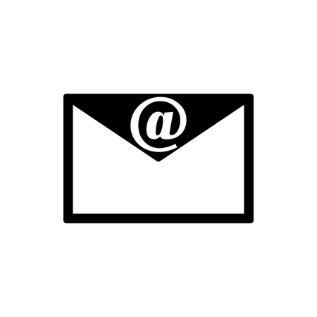 Vector image of isolated icons of a closed envelope. Design a flat icons closed message