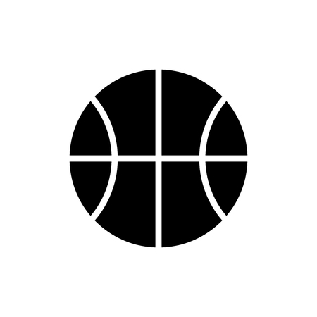 Vector image isolated basketball icons. Design a flat basketball icon