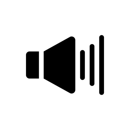 Vector image of an isolated icon of the speaker. Design a flat speaker icon