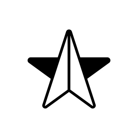 Vector image of a flat, linear star icon. Isolated star on a white background