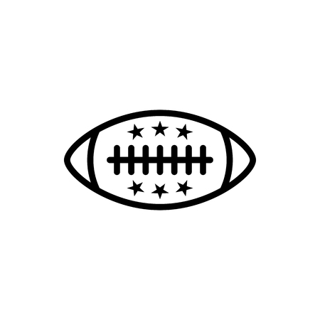 Vector image of an isolated, linear ball icon for American football. Design a flat ball icon for American football  イラスト・ベクター素材
