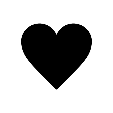 Vector image of a flat heart icon. Isolated heart on a white background