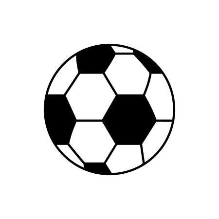 Vector image of isolated, linear soccer ball icon. Design a flat soccer ball icon