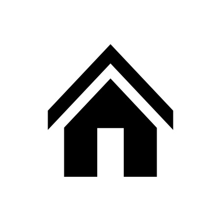 Vector image of isolated home icons. Design a flat home icon that points to the home page