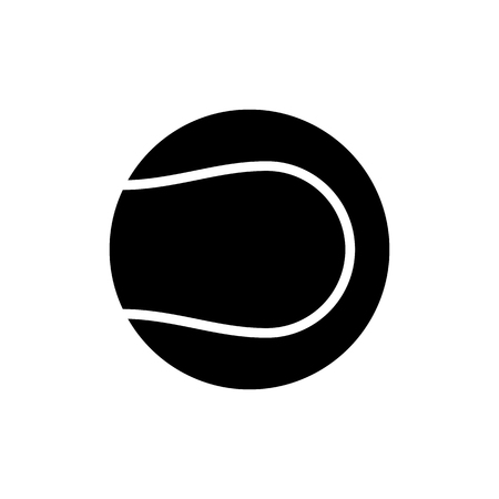 Vector image of isolated ball icons for playing tennis. Design a flat ball icon for playing tennis