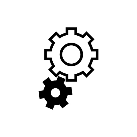 Vector image of flat, isolated tuning icons. Design customization icons.