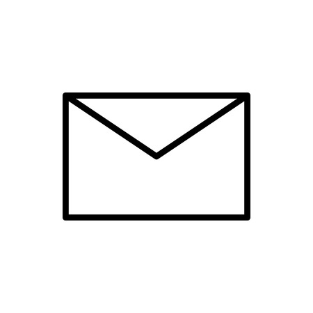Vector image of isolated, linear icons of a closed envelope. Design a flat icons closed message  イラスト・ベクター素材