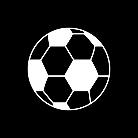 Vector image of isolated, linear soccer ball icon. Design a flat soccer ball icon Stockfoto - 125054661