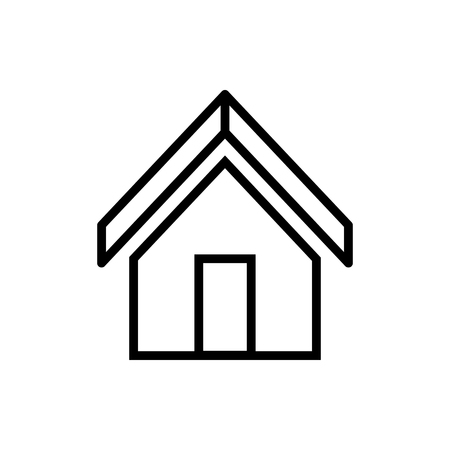 Vector image of isolated, linear home icons. Design a flat home icon that points to the home page