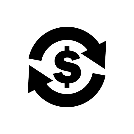 Vector image of a flat, isolated icon dollar sign. Currency exchange dollar. United States dollar sign