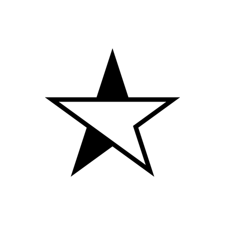 Vector image of a flat star icon. Isolated star on a white background  イラスト・ベクター素材