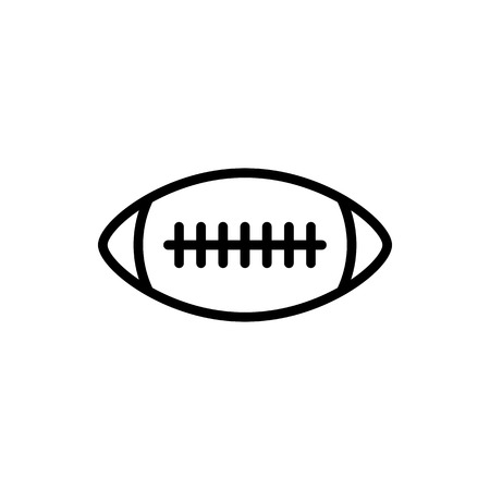 Vector image of isolated ball icons for American football. Design a flat ball icon for American football