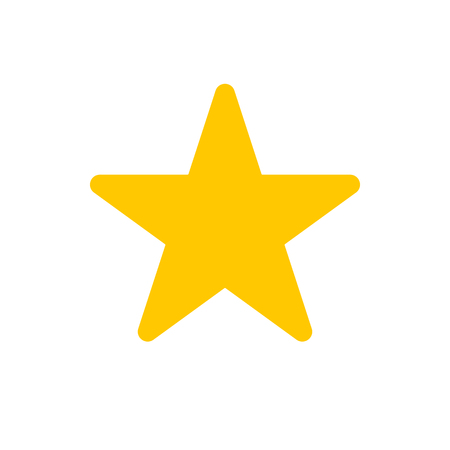 Vector image of a flat, star icon. Isolated star on a white background  イラスト・ベクター素材
